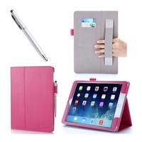 i-Blason iPad Air 2 Leather Slim Book Case magenta