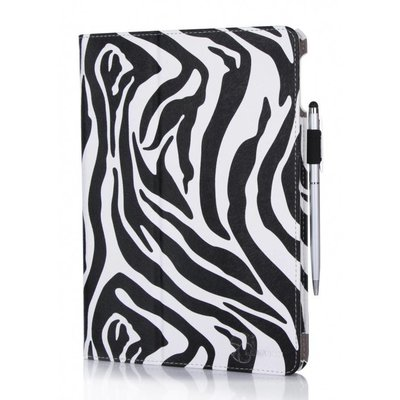 i-Blason iPad Air 2 Leather Slim Book Case zebra print