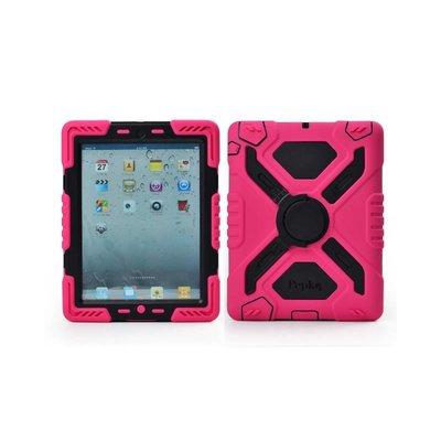 Pepkoo Spider Case voor iPad 2 3 4 roze/zwart