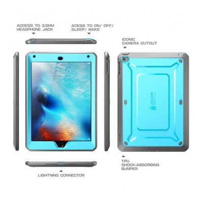 Supcase Unicorn Beetle Protective Case voor iPad Mini 4 blauw