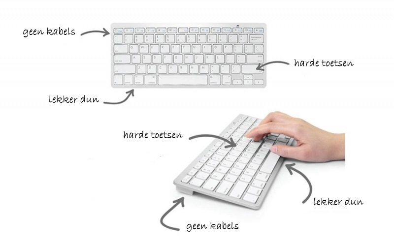 iPad draadloos bluetooth toetsenbord wit