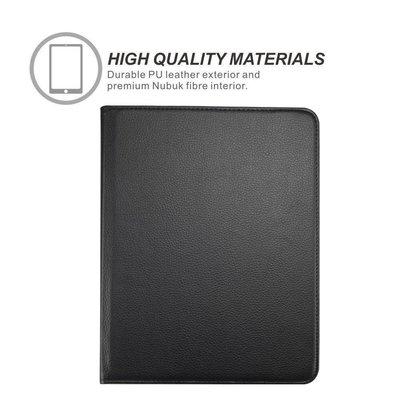 iPad Pro 9,7 hoes 360 graden zwart leer