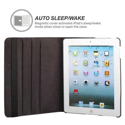 iPad Mini 4 hoes 360 graden zwart leer
