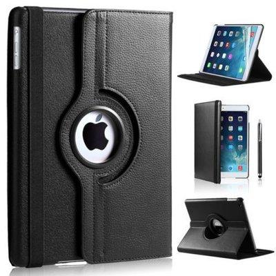iPadspullekes.nl iPad Mini 4 hoes 360 graden zwart leer