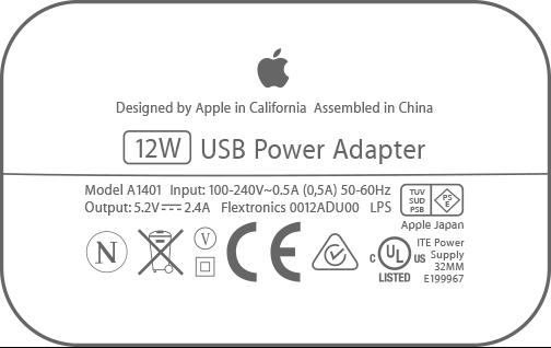 ipad oplader 12 watt