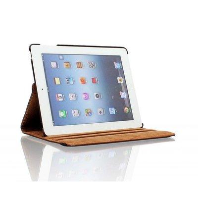 iPad 2017 hoes 360 graden bruin leer