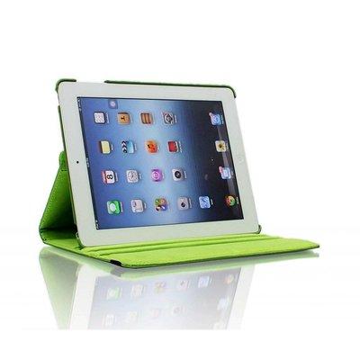 iPad 2017 hoes 360 graden groen leer