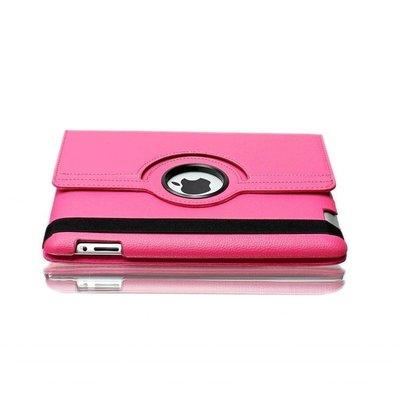 iPad 2017 hoes 360 graden roze leer