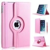 iPadspullekes.nl iPad 2017 hoes 360 graden licht roze leer