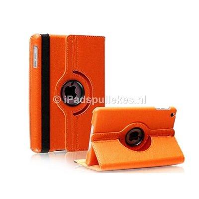 iPadspullekes.nl iPad 2017 hoes 360 graden oranje leer