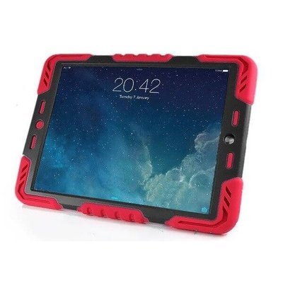 Pepkoo iPad 2017 hoes Spider Case rood zwart