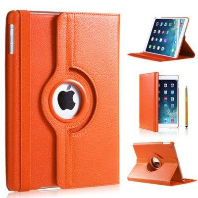 iPad Pro 10,5 hoes 360 graden oranje leer