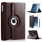 iPad Pro 10,5 hoes 360 graden bruin leer