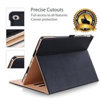 iPadspullekes.nl iPad Air luxe hoes leer bruin zwart