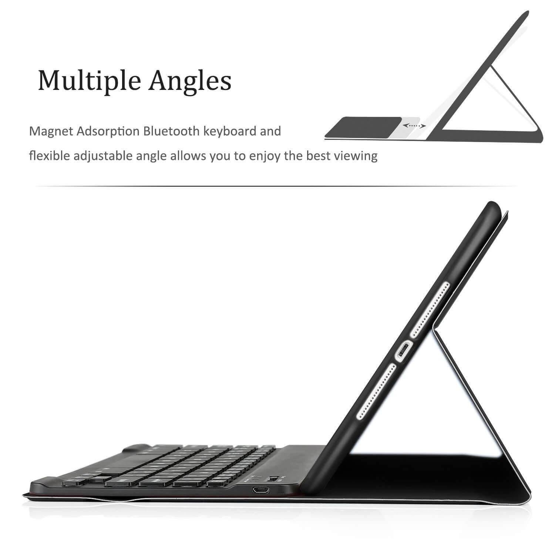 ipad 2018 hoes met los toetsenbord en verschillende standen instelbaar