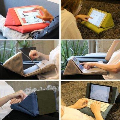 iPadspullekes.nl  iPad kussen donker blauw | Bedien je iPad gemakkelijk van je schoot