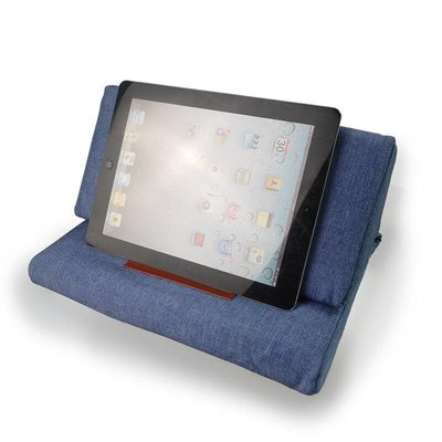 iPad kussen donker blauw | Bedien je iPad gemakkelijk van je schoot
