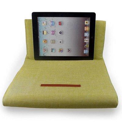 iPadspullekes.nl iPad kussen groen | Bedien je iPad gemakkelijk van je schoot