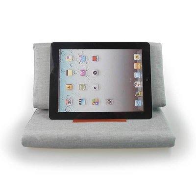 iPadspullekes.nl iPad kussen grijs | Bedien je iPad gemakkelijk van je schoot