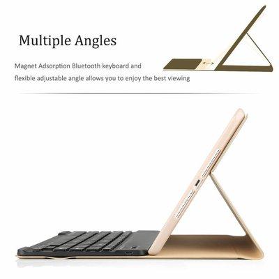 iPad 2017 hoes met afneembaar toetsenbord goud