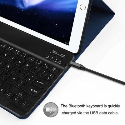 iEGrow iPad 2017 hoes met afneembaar toetsenbord blauw