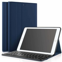 iPad 2017 hoes met afneembaar toetsenbord blauw