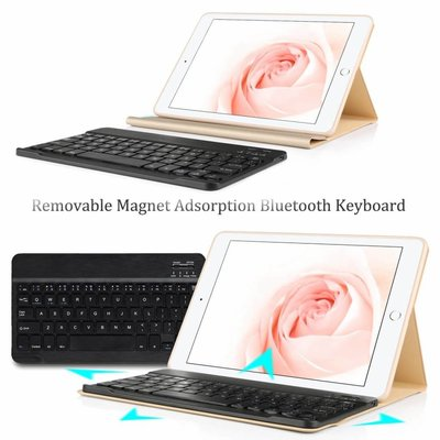 iPad Air hoes met afneembaar toetsenbord goud