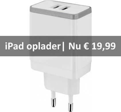 ipad oplader wit