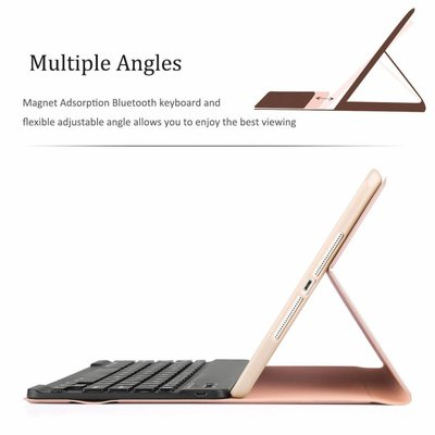 iPadspullekes.nl iPad Air hoes met afneembaar toetsenbord roze