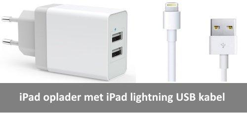 iPad oplader met kabel