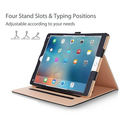 iPad hoes 2018 luxe leer bruin zwart