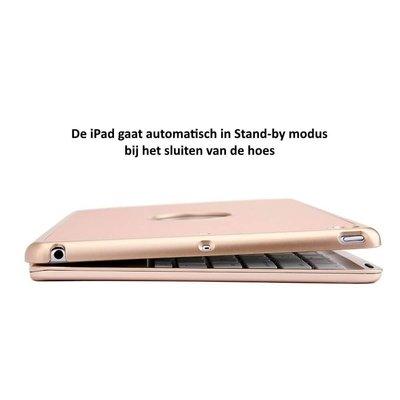 iEGrow iPad 2018  toetsenbord hoes goud