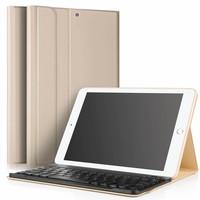 iPad 2018 hoes met afneembaar toetsenbord goud