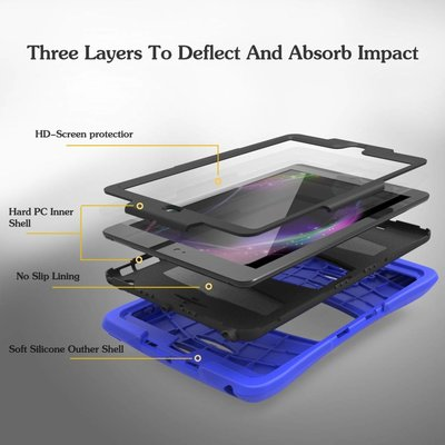 iPad 2018 hoes Protector blauw