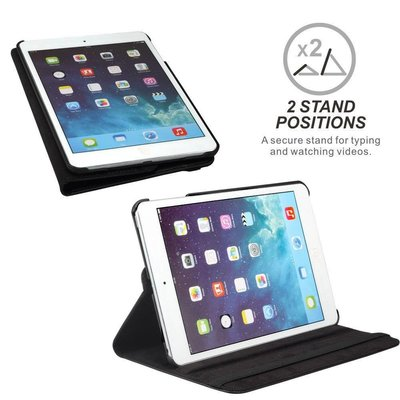 iPad 2018 hoes 360 graden zwart leer
