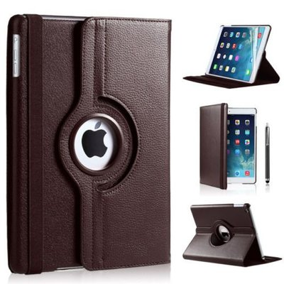iPadspullekes.nl iPad 2018 hoes 360 graden bruin leer