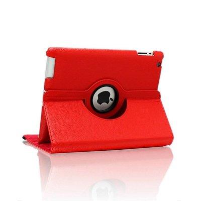 iPad 2018 hoes 360 graden rood leer
