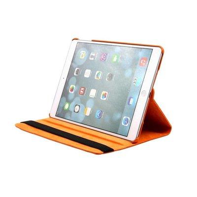 iPad 2018 hoes 360 graden oranje leer