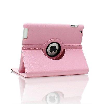 iPad 2018 hoes 360 graden licht roze leer