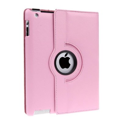 iPadspullekes.nl iPad 2018 hoes 360 graden licht roze leer