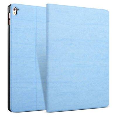 iPad hoes 2018 Design licht blauw hout print