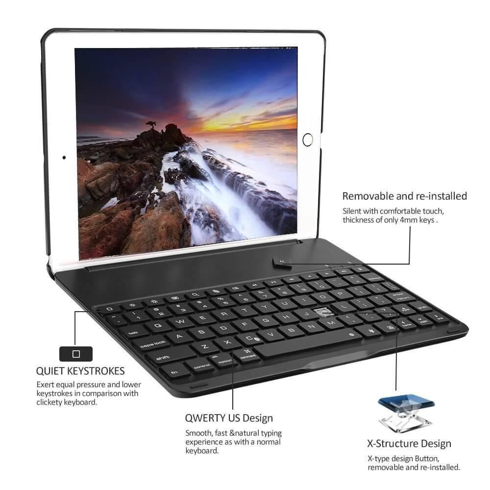 iPad 2018 hoes met toetsenbord