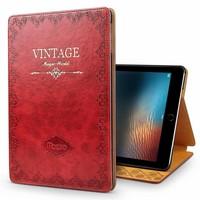 iPadspullekes.nl iPad hoes 2018 leer vintage rood