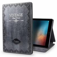iPad hoes 2018 leer vintage grijs