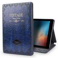 iPad hoes 2018 leer vintage blauw