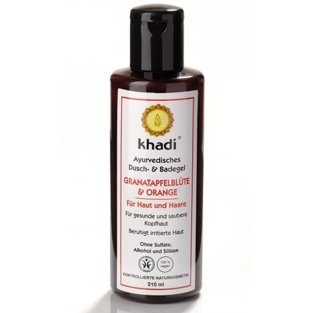 Khadi Bath & Body Wash Pomegranate & Orange