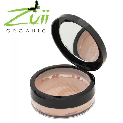 Zuii Organic Loose Powder Foundation Honeywood
