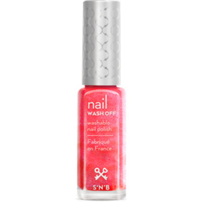 S'N'B Wash Off Roze Glitter Glam Nagellak