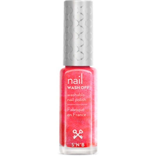 Wash Off Roze Glitter Glam Nagellak