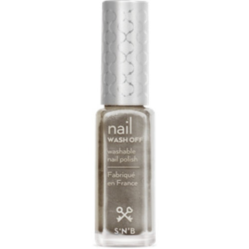 S'N'B Wash Off Nagellak 2206 Silver Mist